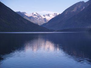 Горный Алтай. мультинское озеро. вид на лендик Норильчан