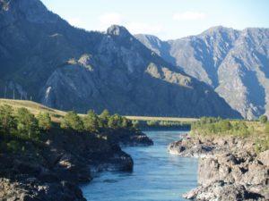 Горный  Алтай,, река  Катунь, пороги Тельдекпень